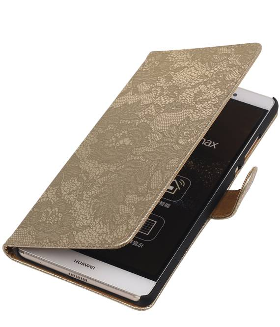sony Xperia E4g Goud | Lace bookstyle / book case/ wallet case Hoes  | WN™ - hoesjeshoek