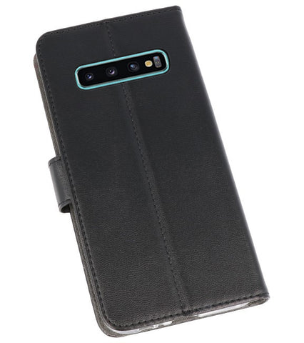 Samsung Samsung Galaxy S10 Plus Zwart | Wallet Case Hoesje  | WN™ - hoesjeshoek