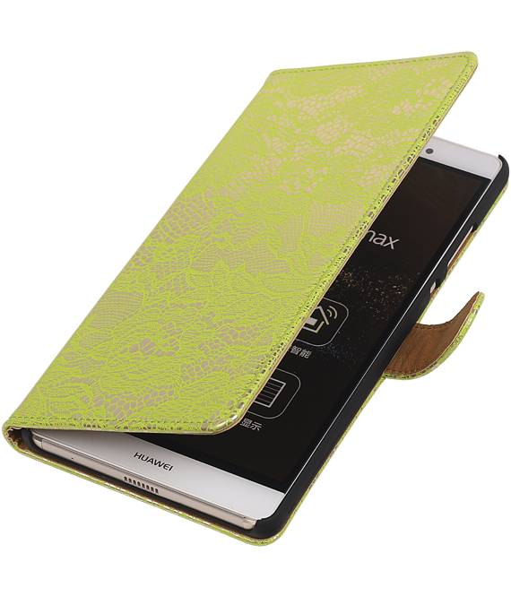 sony Xperia E4g Groen | Lace bookstyle / book case/ wallet case Hoes  | WN™ - hoesjeshoek