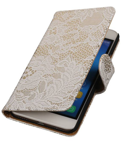 Huawei Honor 4 A / Y6 Wit | Lace bookstyle / book case/ wallet case Hoes  | WN™ - hoesjeshoek