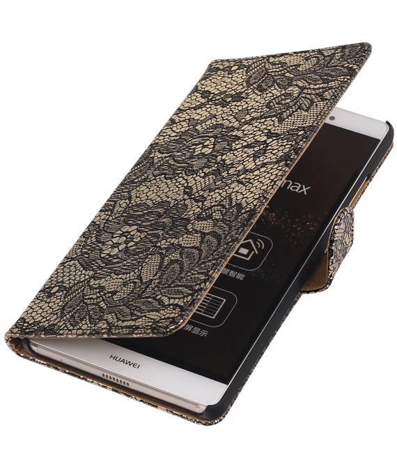 sony Xperia E4g Zwart | Lace bookstyle / book case/ wallet case Hoes  | WN™ - hoesjeshoek