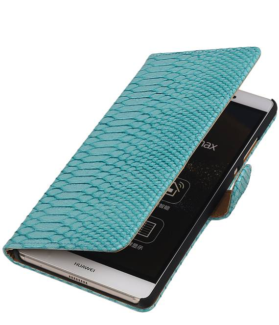 sony Xperia E4g Turquoise | Snake bookstyle / book case/ wallet case Hoes  | WN™ - hoesjeshoek