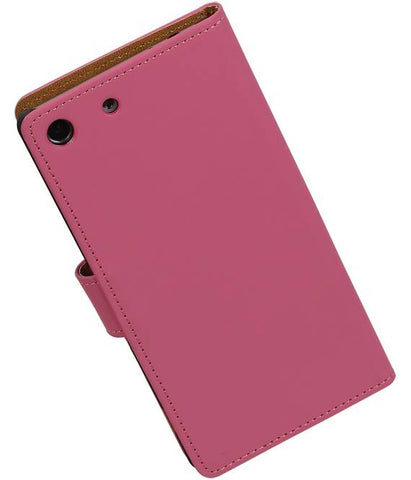 sony Xperia M5 Roze | bookstyle / book case/ wallet case Hoes  | WN™ - hoesjeshoek
