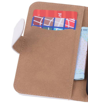 Alcatel One Touch Pop C7 Wit | bookstyle / book case/ wallet case Hoes  | WN™ - hoesjeshoek