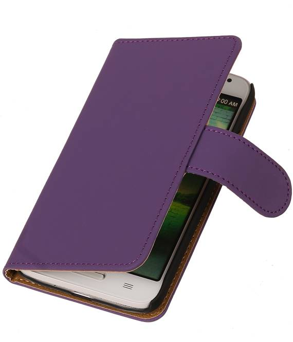 Huawei Huawei Ascend Y330 Paars | bookstyle / book case/ wallet case Hoes  | WN™ - hoesjeshoek