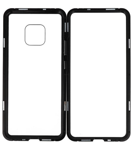 Mate 20 Pro Zwart - Transparant | Magnetic Back Cover  | WN™ - hoesjeshoek