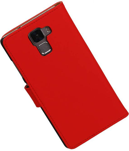 Huawei Honor 7 Rood | bookstyle / book case/ wallet case Hoes  | WN™ - hoesjeshoek