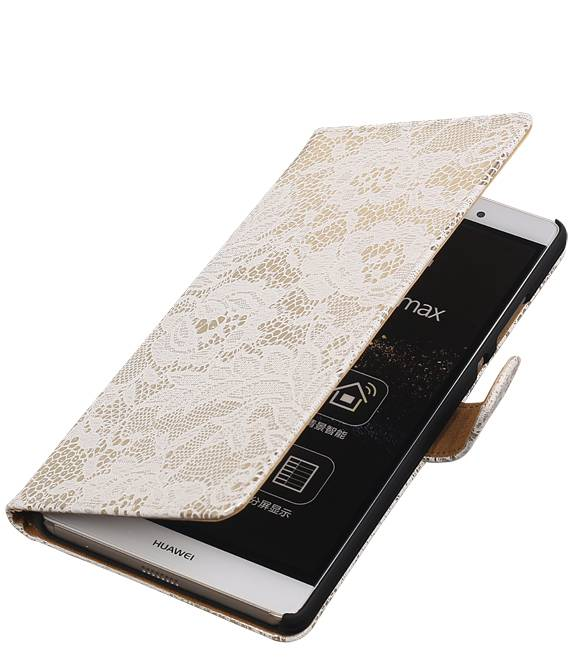 sony Xperia E4g Wit | Lace bookstyle / book case/ wallet case Hoes  | WN™ - hoesjeshoek