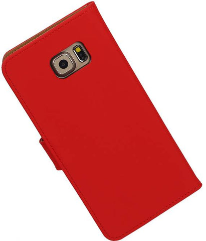 Samsung Galaxy S6 Edge Plus G928T Rood | bookstyle / book case/ wallet case Hoes  | WN™ - hoesjeshoek