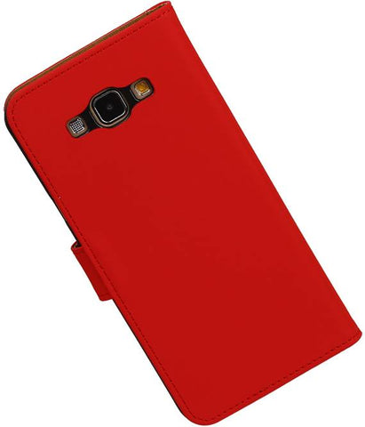 Samsung galaxy a8 2015 Rood | bookstyle / book case/ wallet case Hoes  | WN™ - hoesjeshoek