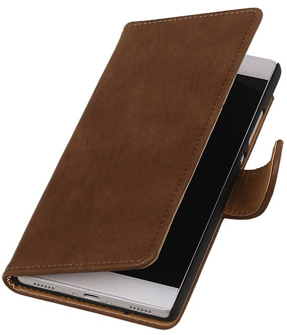 Huawei Huawei Ascend P8 Bruin | Bark bookstyle / book case/ wallet case Hoes  | WN™ - hoesjeshoek