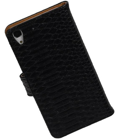 Huawei Honor 4 A / Y6 Zwart | Snake bookstyle / book case/ wallet case Hoes  | WN™ - hoesjeshoek