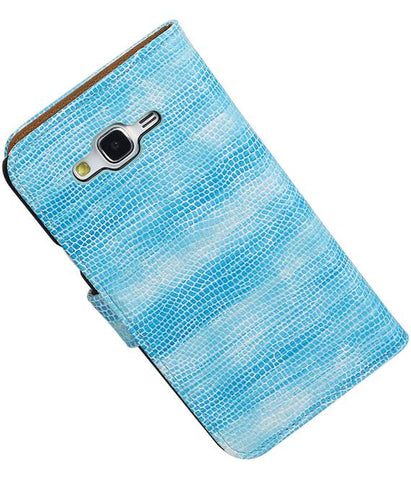 Samsung galaxy j5 2015 Turquoise | Lizard bookstyle / book case/ wallet case Hoes  | WN™ - hoesjeshoek