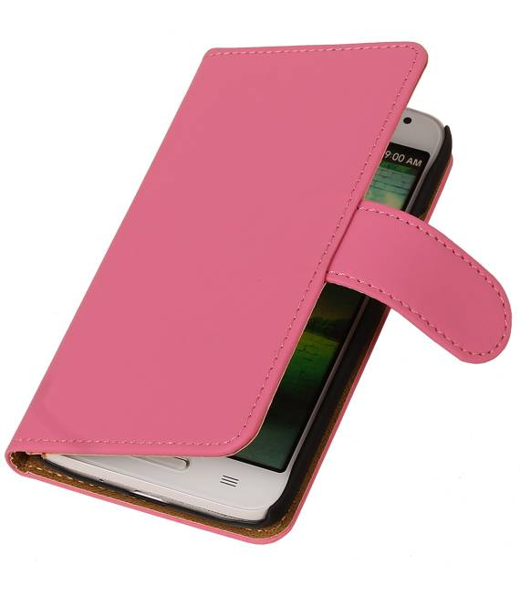 LG Optimus F5 Roze | bookstyle / book case/ wallet case Hoes  | WN™ - hoesjeshoek