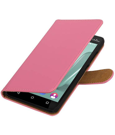 Wiko Lenny 3 Roze | bookstyle / book case/ wallet case Hoes  | WN™ - hoesjeshoek