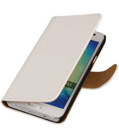Samsung Z1 Z130H Wit | bookstyle / book case/ wallet case Hoes  | WN™ - hoesjeshoek