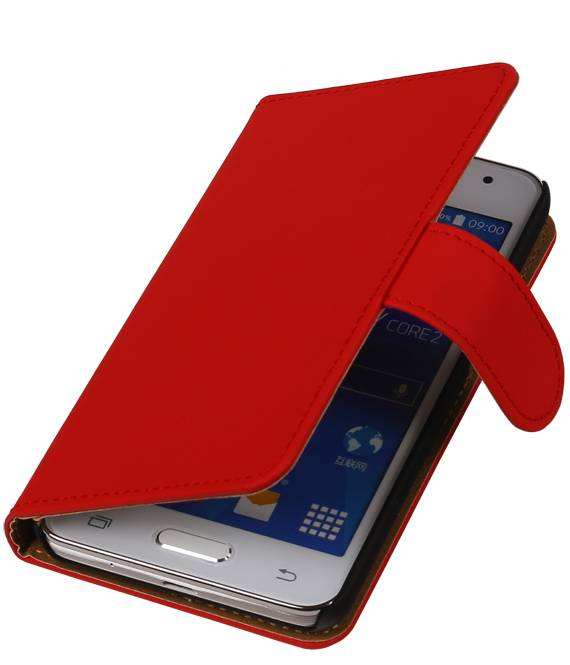 Samsung Galaxy mini 2 S6500 Rood | bookstyle / book case/ wallet case Hoes  | WN™ - hoesjeshoek