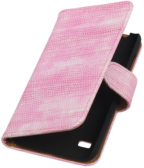 Huawei Huawei Ascend Y550 Roze | Lizard bookstyle / book case/ wallet case Hoes  | WN™ - hoesjeshoek