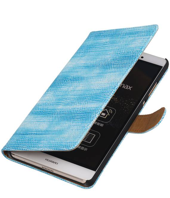 Huawei Huawei Ascend Y540 Turquoise | Lizard bookstyle / book case/ wallet case Hoes  | WN™ - hoesjeshoek