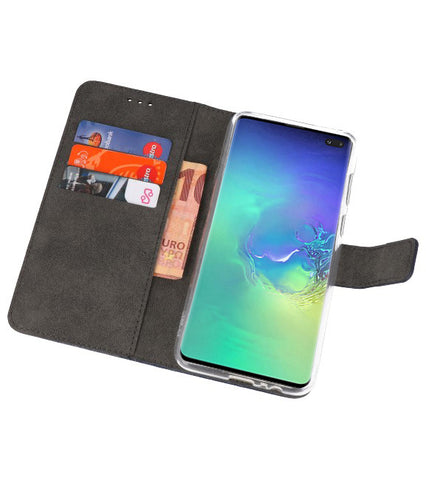 Samsung Samsung Galaxy S10 Plus Navy | Wallet Case Hoesje  | WN™ - hoesjeshoek