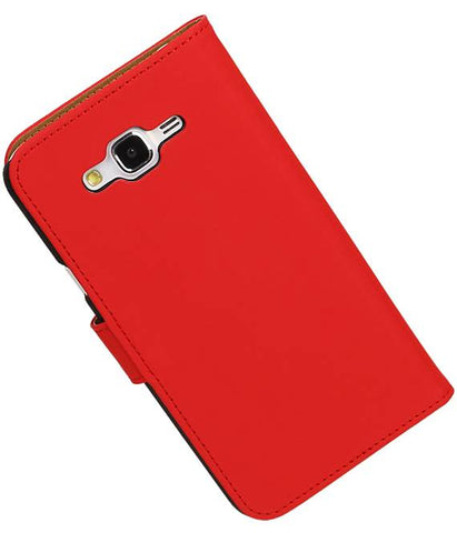 Samsung galaxy j5 2015 Rood | bookstyle / book case/ wallet case Hoes  | WN™ - hoesjeshoek