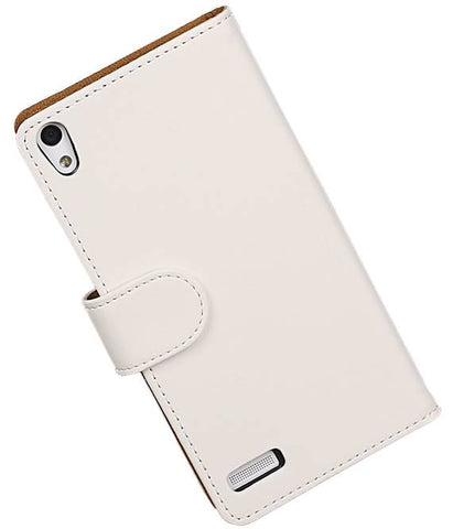 Huawei Huawei Ascend P6 Wit | bookstyle / book case/ wallet case Hoes  | WN™ - hoesjeshoek