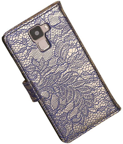 Huawei Honor 7 Blauw | Lace bookstyle / book case/ wallet case Hoes  | WN™ - hoesjeshoek
