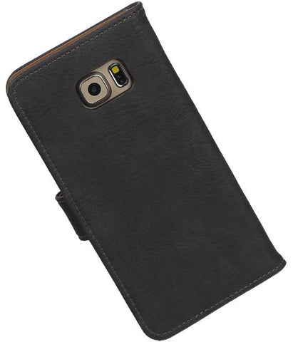 Samsung Galaxy S6 Edge Plus G928T Grijs | Bark bookstyle / book case/ wallet case Hoes  | WN™ - hoesjeshoek