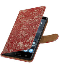 Nokia 5 Rood | Lace bookstyle / book case/ wallet case Hoes  | WN™ - hoesjeshoek