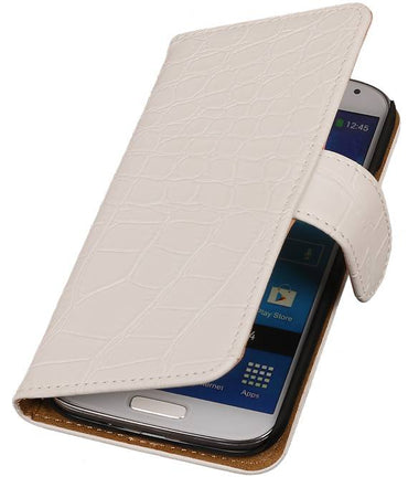 Acer Liquid E3 Wit | Croco bookstyle / book case/ wallet case Hoes  | WN™ - hoesjeshoek