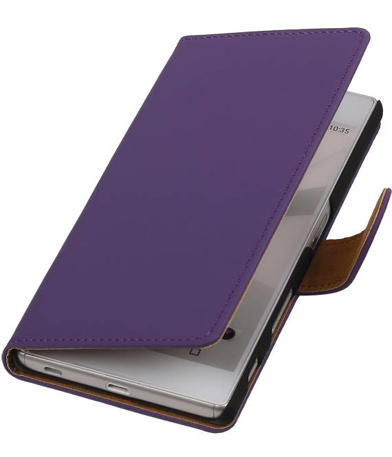 sony Xperia C5 Paars | bookstyle / book case/ wallet case Hoes  | WN™ - hoesjeshoek
