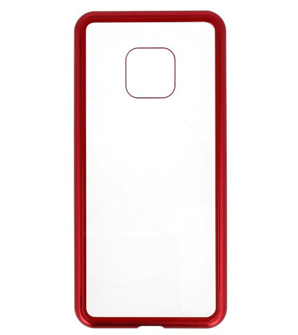 Mate 20 Pro Rood - Transparant | Magnetic Back Cover  | WN™ - hoesjeshoek