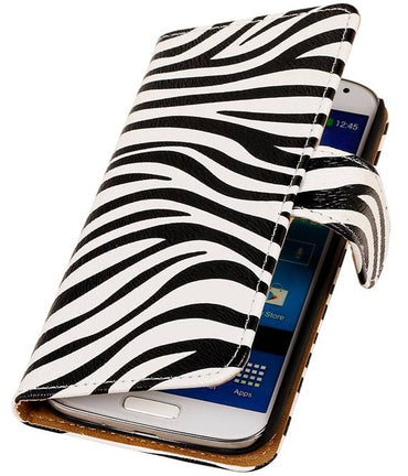 Acer Liquid E3 Wit | Zebra bookstyle / book case/ wallet case Hoes  | WN™ - hoesjeshoek