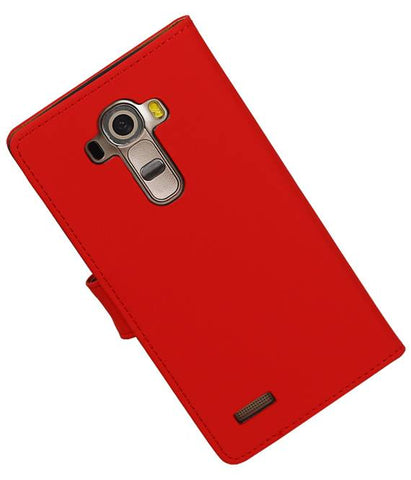 LG G4 Rood | bookstyle / book case/ wallet case Hoes  | WN™ - hoesjeshoek