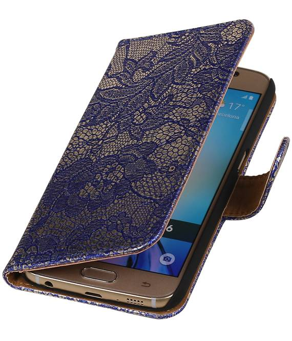 Samsung galaxy j2 2015 J200F Blauw | Lace bookstyle / book case/ wallet case Hoes  | WN™ - hoesjeshoek