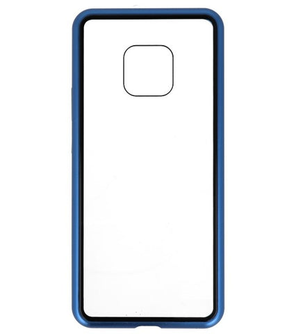 Mate 20 Pro Blauw - Transparant | Magnetic Back Cover  | WN™ - hoesjeshoek