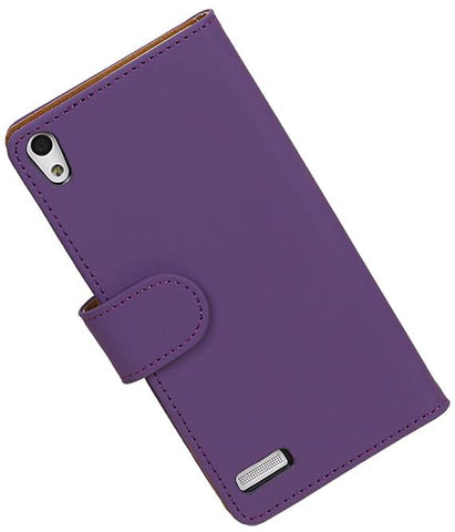 Huawei Huawei Ascend P6 Paars | bookstyle / book case/ wallet case Hoes  | WN™ - hoesjeshoek