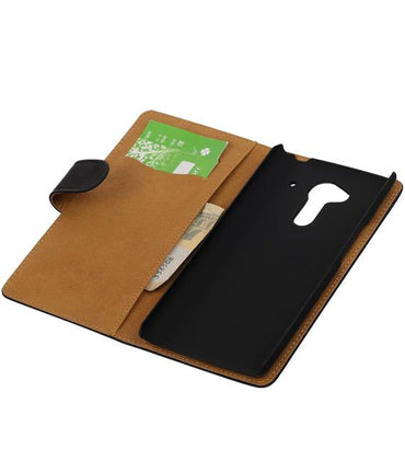 Acer Liquid Z5 Zwart | bookstyle / book case/ wallet case Hoes  | WN™ - hoesjeshoek