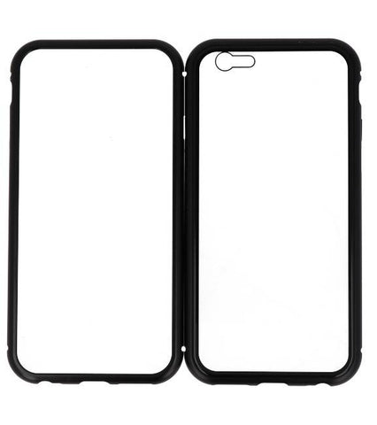 iPhone 6 Zwart - Transparant | Magnetic Back Cover  | WN™ - hoesjeshoek
