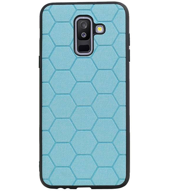 Samsung Samsung Galaxy A6 Plus 2018 Blauw | Hexagon Hard Case  | WN™ - hoesjeshoek