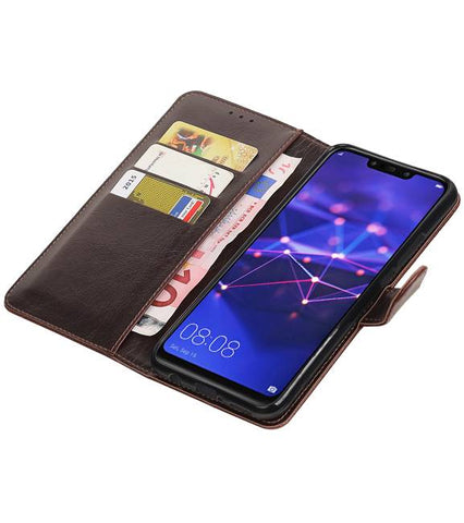 Huawei Mate 20 Lite Mocca | Premium bookstyle / book case/ wallet case  | WN™ - hoesjeshoek