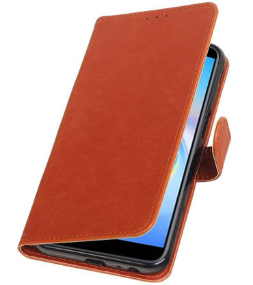 Samsung Samsung Galaxy J6 Plus Bruin | Premium bookstyle / book case/ wallet case  | WN™ - hoesjeshoek