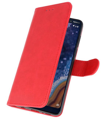 Nokia 9 PureView Rood | bookstyle / book case/ wallet case Wallet Case Hoesje  | WN™ - hoesjeshoek
