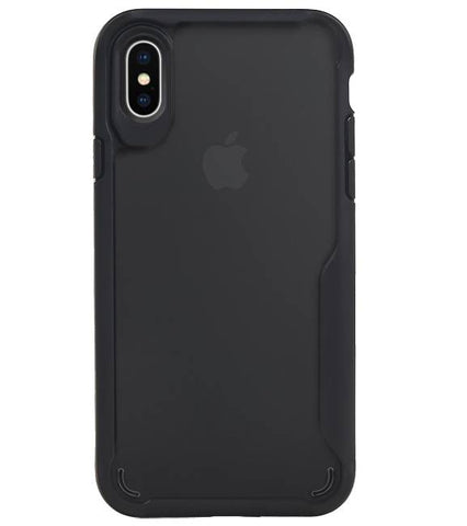 iPhone XS Max Zwart | Focus Transparant Hard Cases  | WN™ - hoesjeshoek