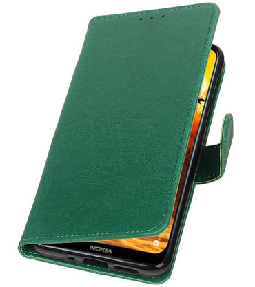 Nokia 8.1 Groen | Premium bookstyle / book case/ wallet case  | WN™ - hoesjeshoek