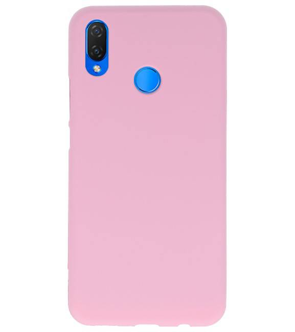 Huawei P Smart Plus Roze | Backcover Siliconen  Hoesje  | WN™ - hoesjeshoek