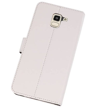 Samsung Galaxy J6 2018 Wit | Wallet Case Hoesje  | WN™ - hoesjeshoek