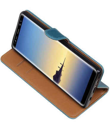 Samsung Galaxy Note 8 Blauw | Premium TPU PU Leder bookstyle / book case/ wallet case  | WN™ - hoesjeshoek