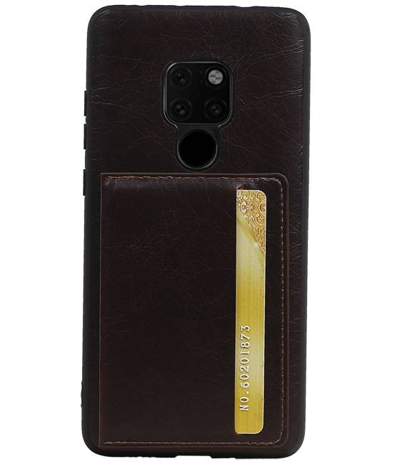 Huawei Mate 20 Lite Mocca | Staand Back Cover 1 Pasjes  | WN™ - hoesjeshoek
