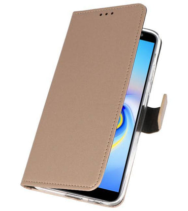 Samsung Galaxy J6 Plus Goud | Wallet Case Hoesje  | WN™ - hoesjeshoek